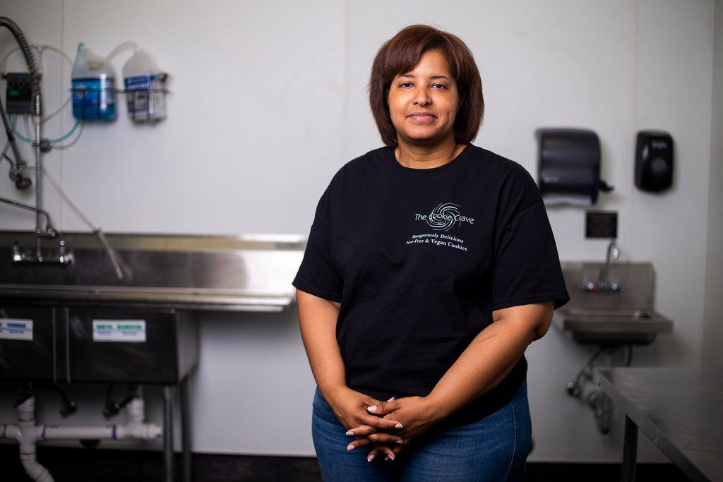 The Cookie Crave owner Veronica Powell develops her recipes at The Cookline in Plano.