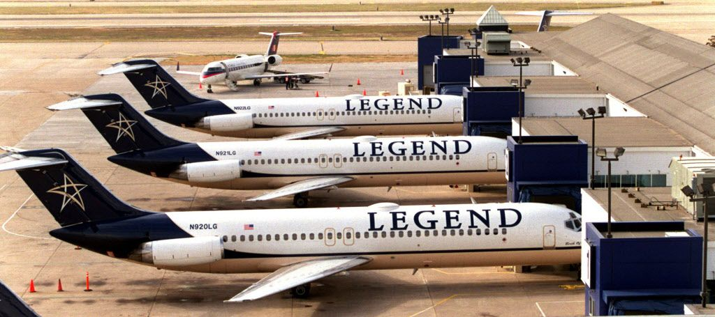 The Legend planes, parked after the 2001 bankruptcy.