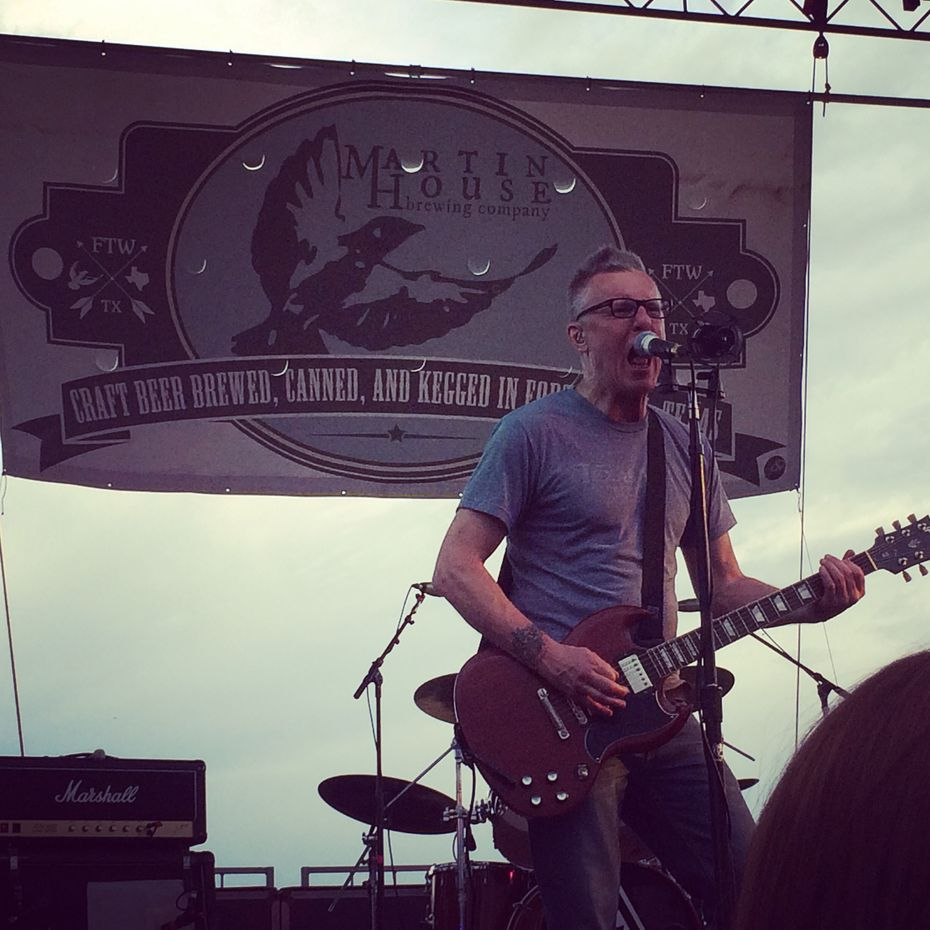 Toadies singer Vaden Todd Lewis performs during the Bockslider beer release at Martin House Brewing Co. in Fort Worth on April 26, 2015.