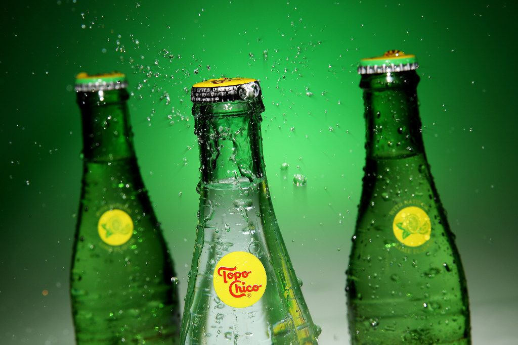 Topo Chico Mineral Water was established in 1895. The water is bottled in Monterrey, Mexico. Bottles were photographed in The Dallas Morning News photography studio in downtown Dallas Wednesday February 1, 2017. (Andy Jacobsohn/The Dallas Morning News)