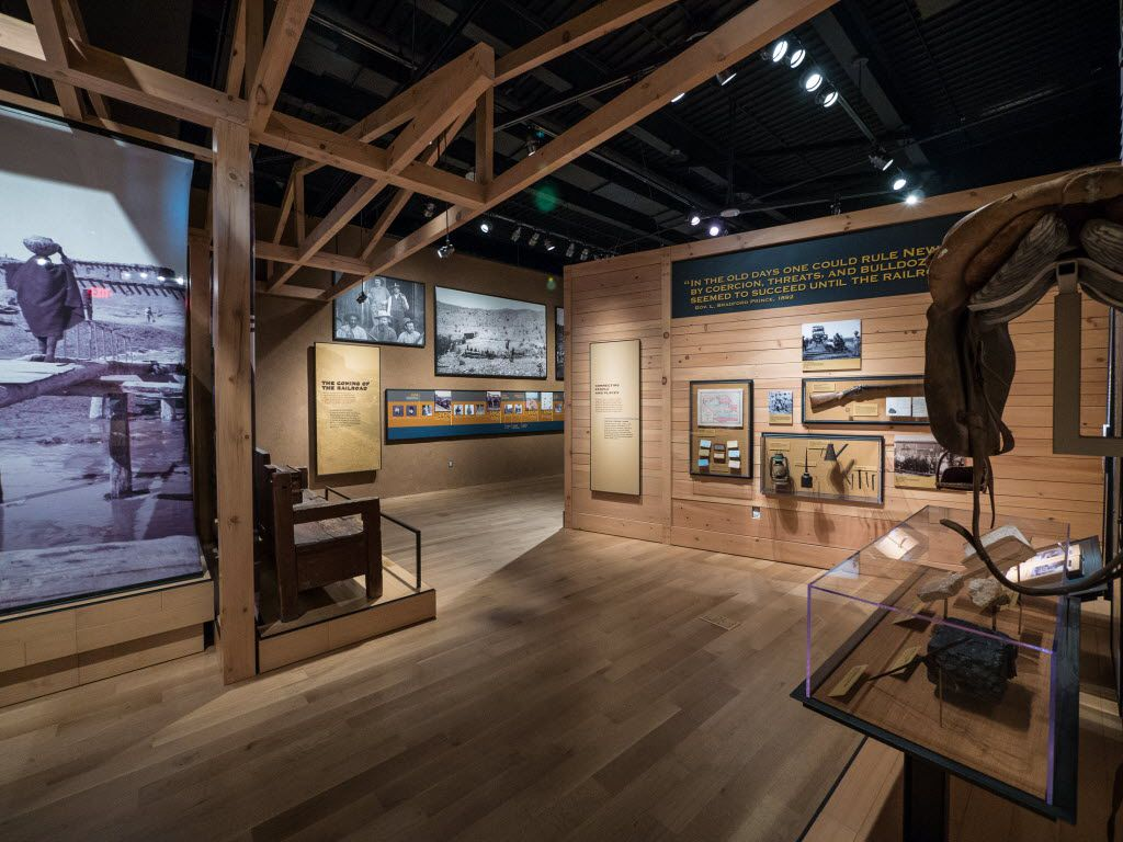 The New Mexico History Museum relates 500 years of the state's history from Native Americans through the World War II's Manhattan Project and beyond.