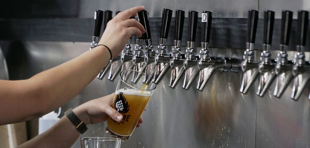 The beer was flowing during the grand opening of Soul Fire Brewing Co. in Roanoke, Texas on Saturday, October 19.