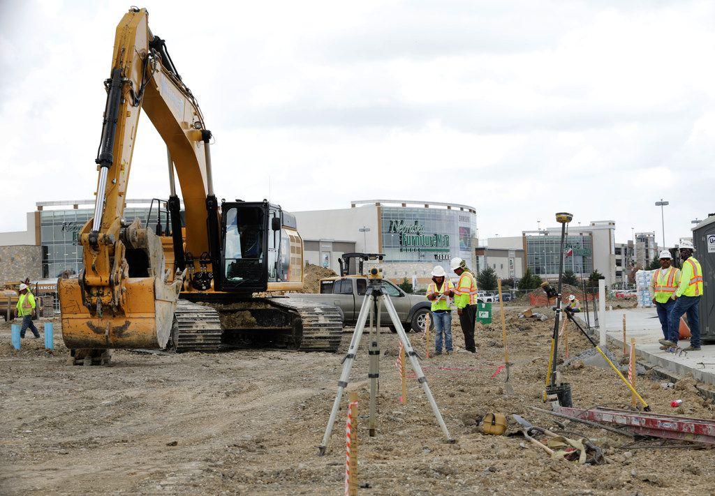 Work is progressing on the construction at Grandscape near Nebraska Furniture Mart in The Colony.