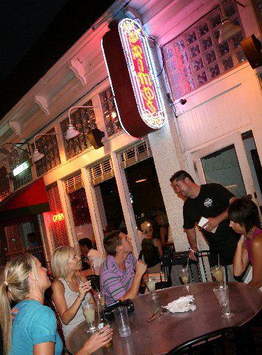Guests mingle at Primo's, a Dallas hot spot, in 2008.