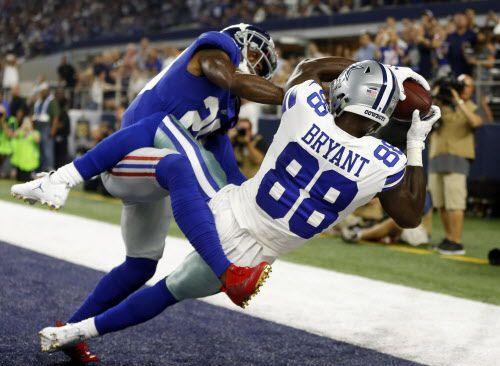 Dez Bryant y los Dallas Cowboys recibieron a los Giants de Nueva York el domingo en el ATT Stadium de Arlington. Foto AP