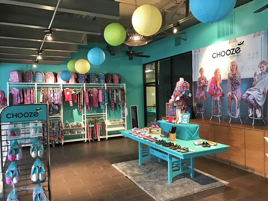 Chooze pop-up store for the holiday shopping season at Preston and Royal in Dallas.