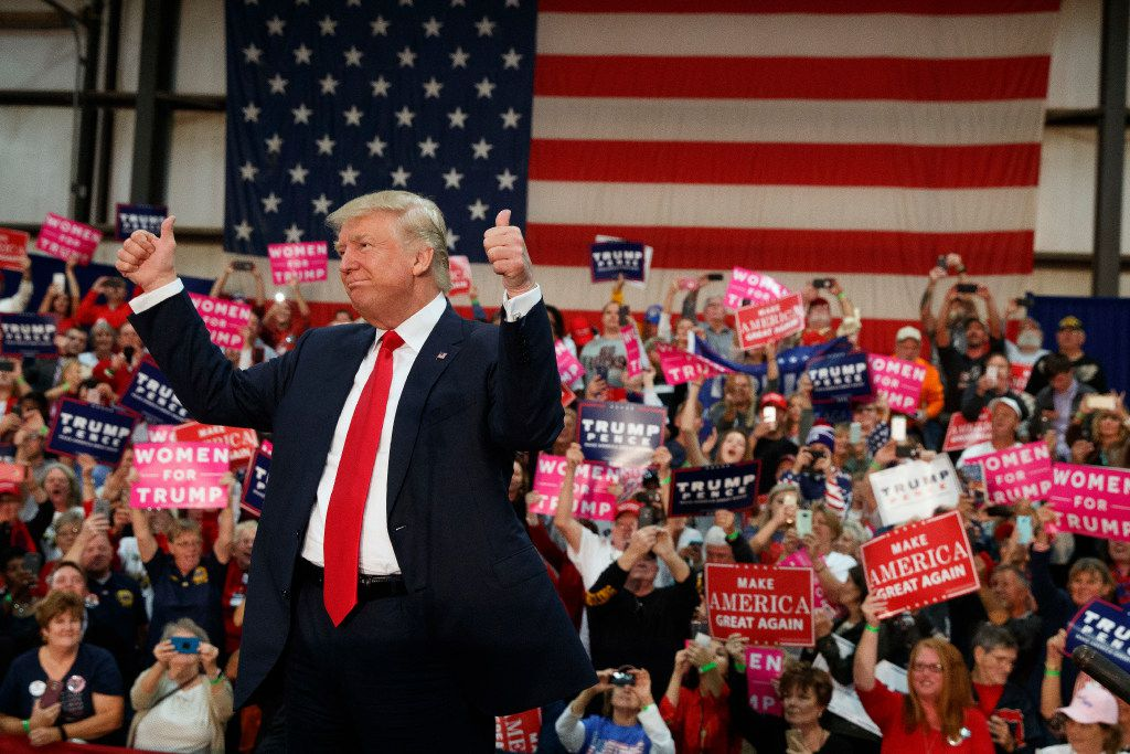 Donald Trump whipped the crowd into a frenzy at a campaign rally Thursday in Springfield, Ohio.