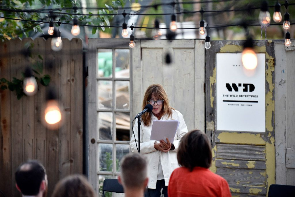 Author Chris Kraus conducts a reading at  The Wild Detectives May 2, 2017