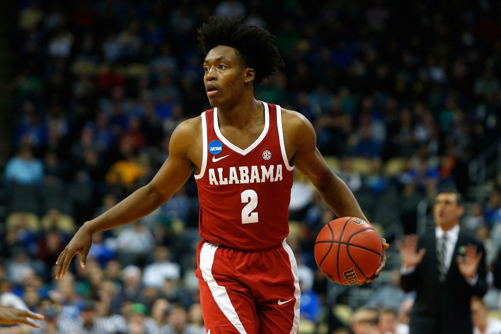 PITTSBURGH, PA - MARCH 17:  Collin Sexton #2 of the Alabama Crimson Tide dribbles against the Villanova Wildcats in the second round of the 2018 NCAA Men's Basketball Tournament at PPG PAINTS Arena on March 17, 2018 in Pittsburgh, Pennsylvania.  (Photo by Justin K. Aller/Getty Images)
