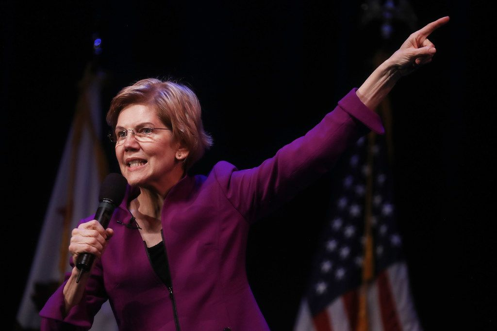 Unlike 2016, Bernie Sanders is far from the only progressive candidate in the Democratic race for the 2020 presidential nomination. Above, U.S. Senator and Democratic presidential candidate Elizabeth Warren (D-MA) speaks at an organizing event Feb. 18, 2019 in Glendale, Calif.