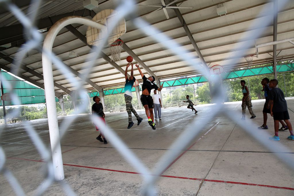 Kids took to the court last week at the Willie B. Johnson Recreation Center in the Hamilton Park neighborhood.
