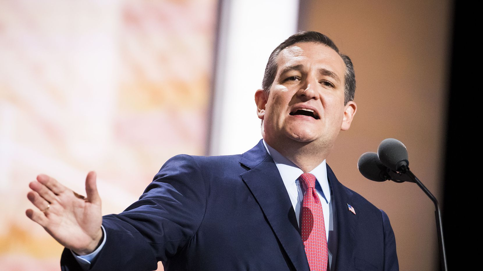 Texas Sen. Ted Cruz speaks on the third day of the Republican National Convention.