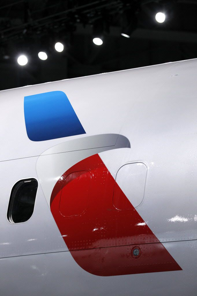 American Airlines unveiled its new company logo on in 2013.