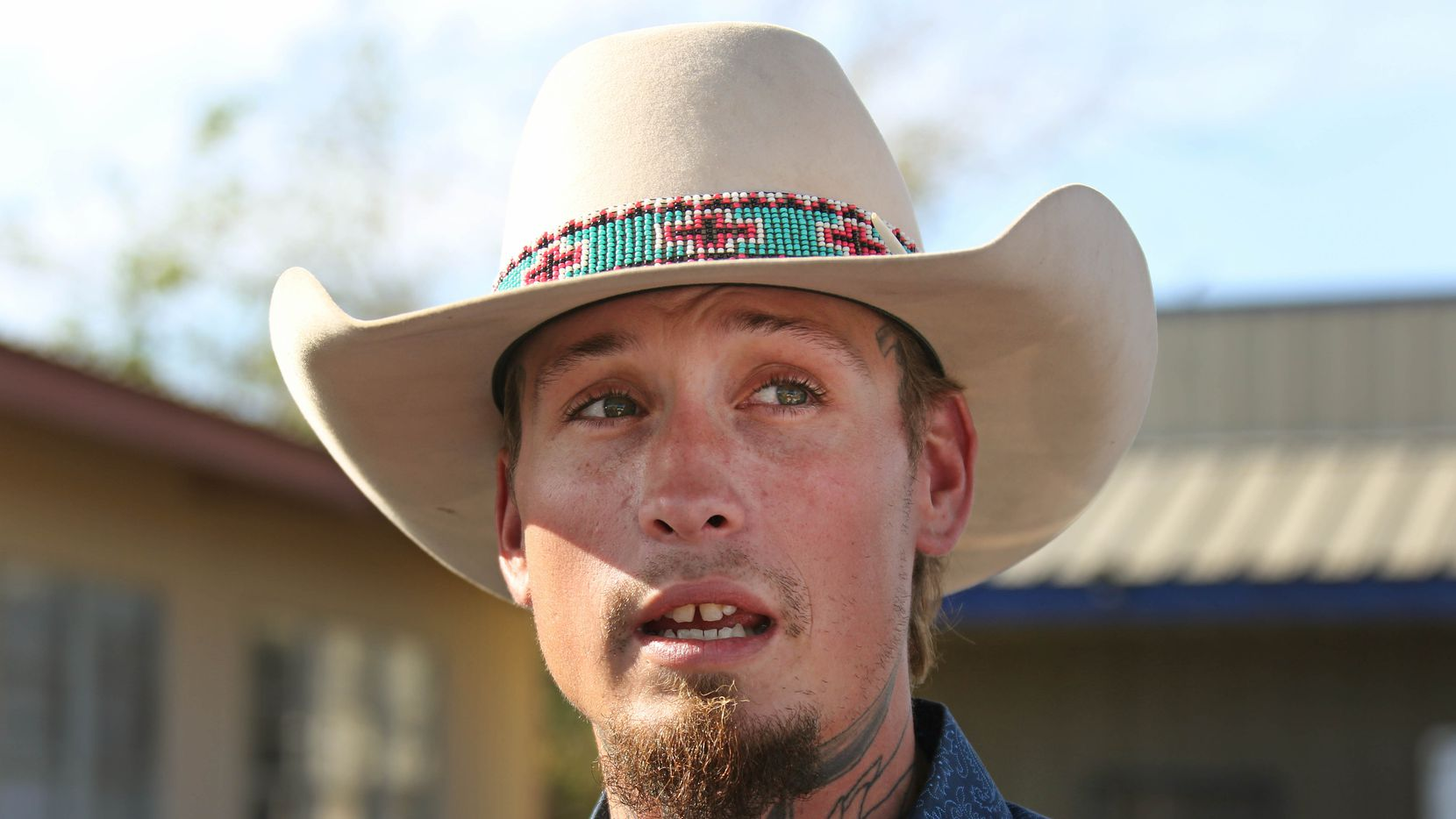 """Johnnie Langendorff talks about his experience during the high speed chase with someone he knew only as """"Steve"""" as they pursued the Sutherland Springs Baptist Church gunman after the killing rampage at the church in Sutherland Springs, Texas."""