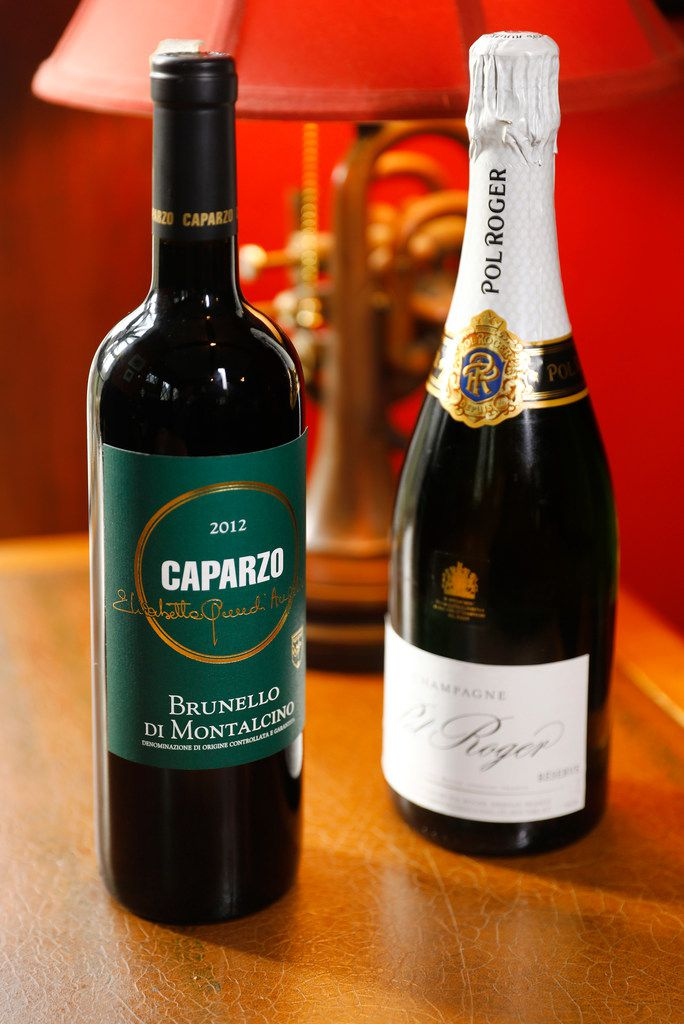 Lucia restaurant owners David and Jennifer Uygur prefer Caparzo Brunello di Montalcino red wine (left) and Pol Roger Brut Reserve for Valentine's dinner.