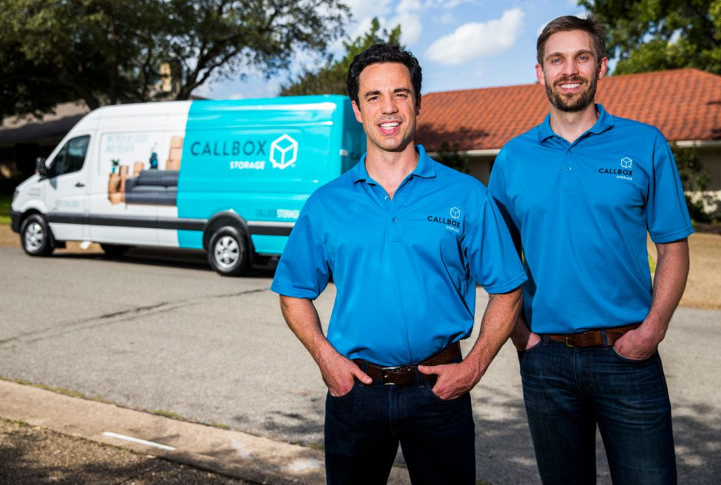 Callbox co-founders Dan Slaven (left) and Kyle Bainter and four friends kicked in $300,000 to see if the idea could be turned into a business. (Ashley Landis/The Dallas Morning News)