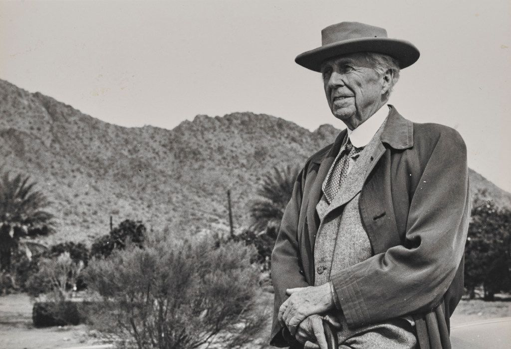 An undated photo of American architect Frank Lloyd Wright (The Museum of Modern Art | Avery Architectural & Fine Arts Library, Columbia University, New York)