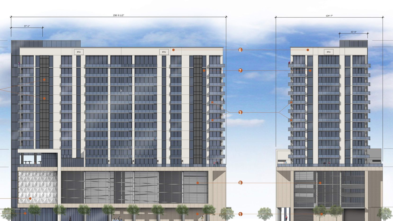 The Star House apartments are being built at the Dallas Cowboys' headquarters and mixed-use project in Frisco.