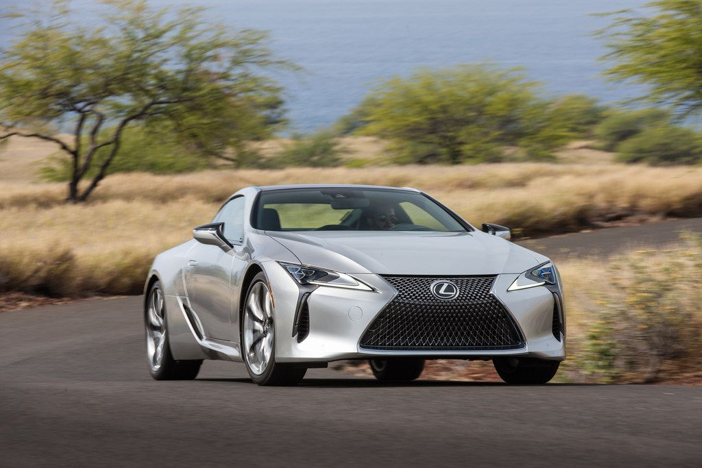The 2018 Lexus LC 500 coupe starts at $92,000.