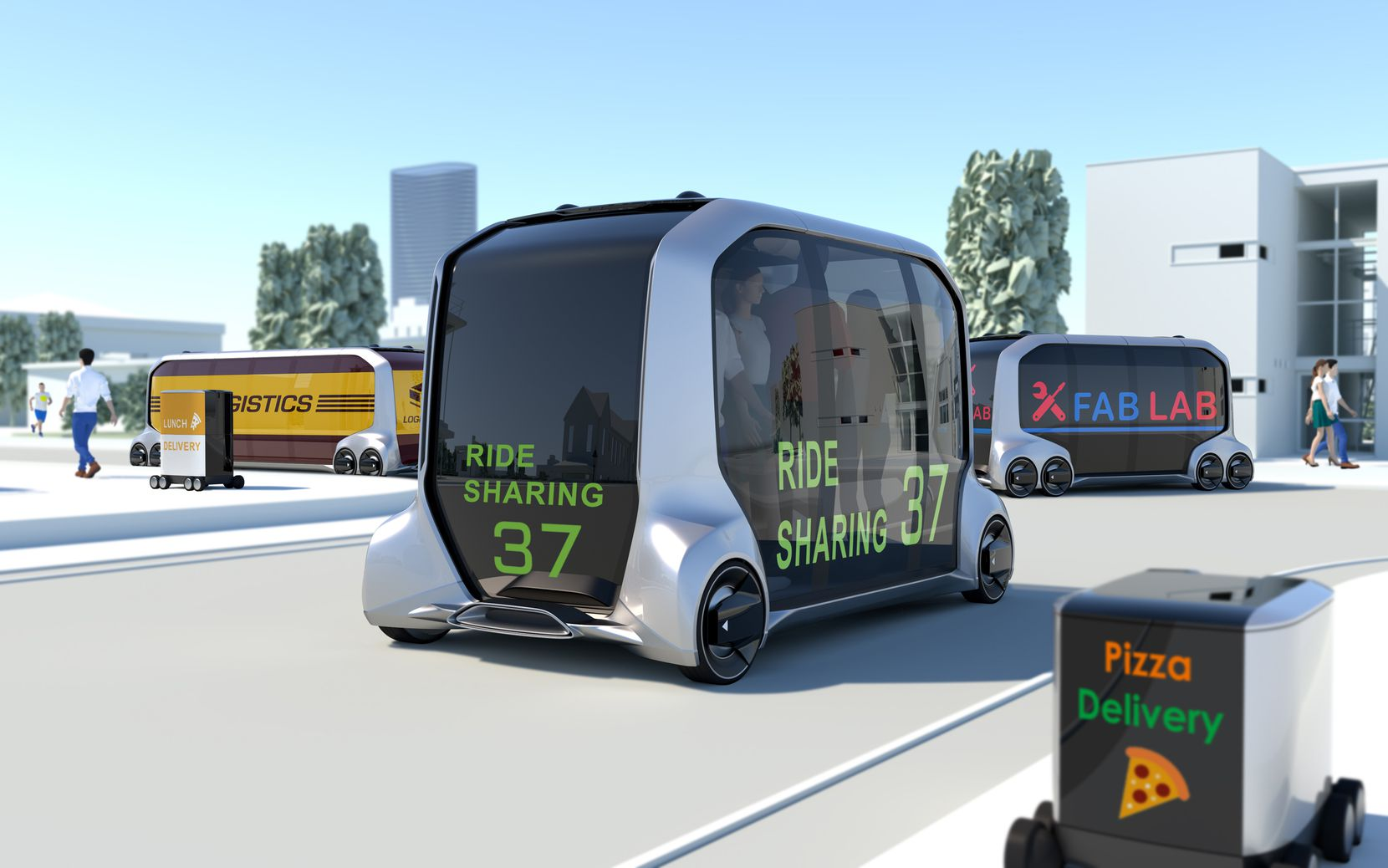 The e-Palette concept is part services platform and part people mover.