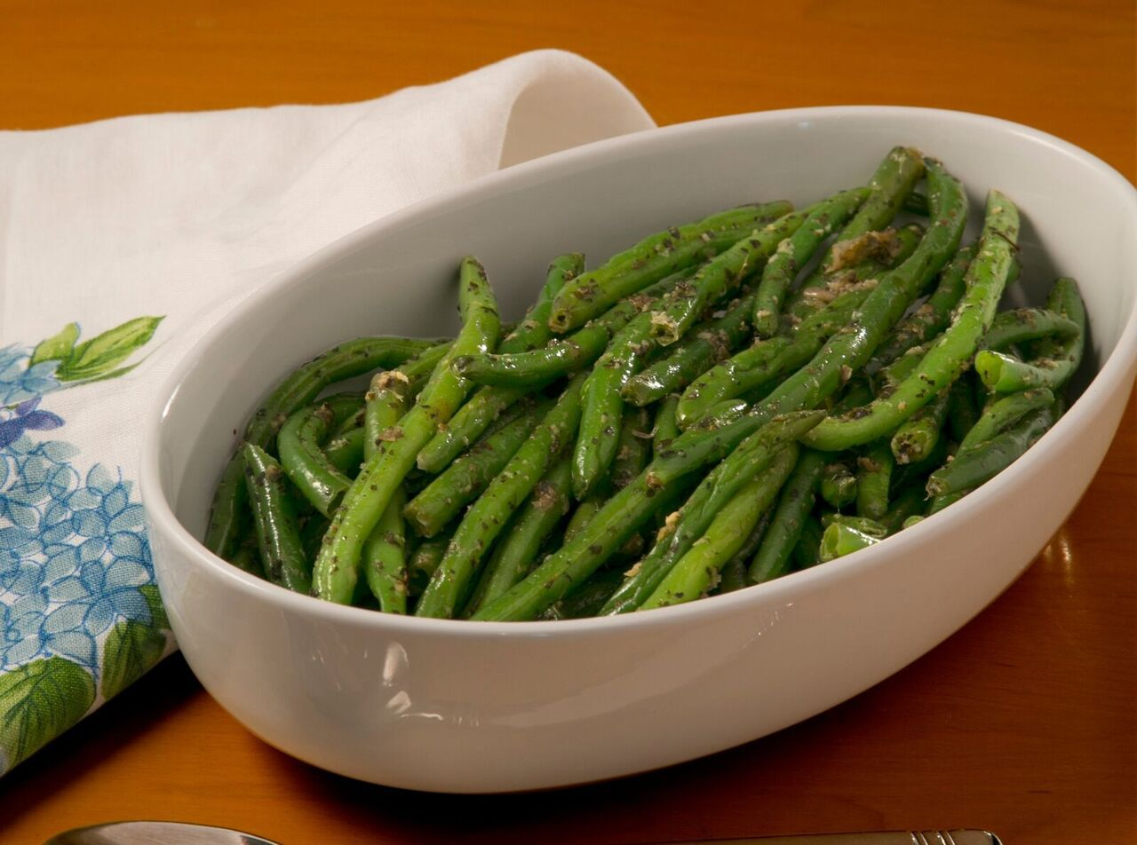 Cookbook author Lisa Joy Mitchell makes this dish, Elegant Green Beans, almost weekly.