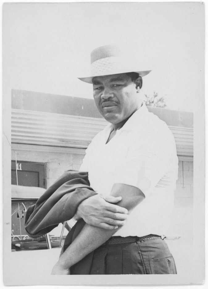 Heavyweight boxing champion Joe Louis at the Green Acre Courts around 1953