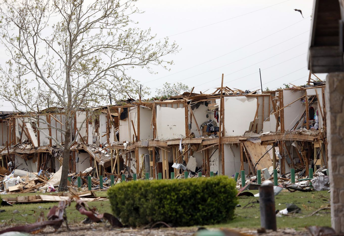 An apartment building on Reagan St. in West stood in ruins ten days after the West Fertilizer Co. explosion on April 17, 2013.