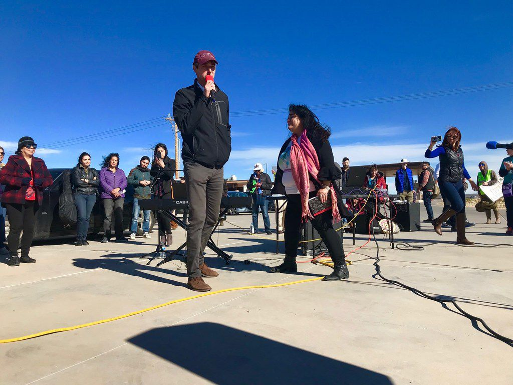 """Last month outside the child detention """"tent city"""" in Tornillo, Texas, Beto O'Rourke thanked protesters for bearing witness and pressuring the Trump administration to change its immigration policies."""