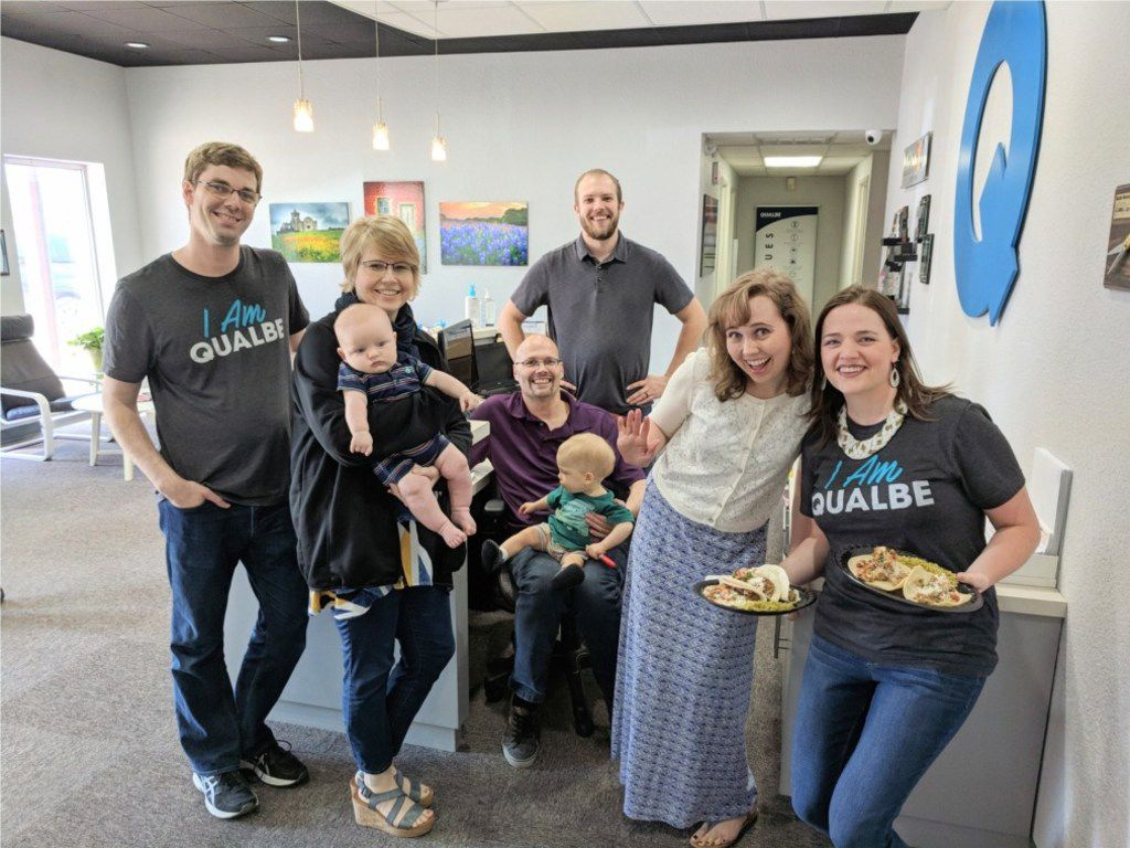 On Good Friday, Qualbe Marketing Group has a tradition of inviting families to the office for a catered lunch. The welcoming crew makes sure kids get to run around and have fun, and everyone gets to meet each others' family members while enjoying a good meal. Three-time winner Qualbe was No. 10 in our small company category last year.