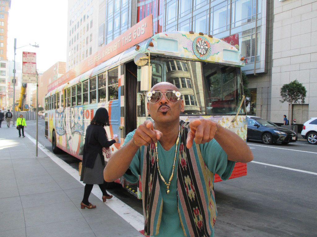 The Magic Bus, driven by Tipsy Love, is an amusing and enlightening way to tour San Francisco and to trip back to the Summer of Love.