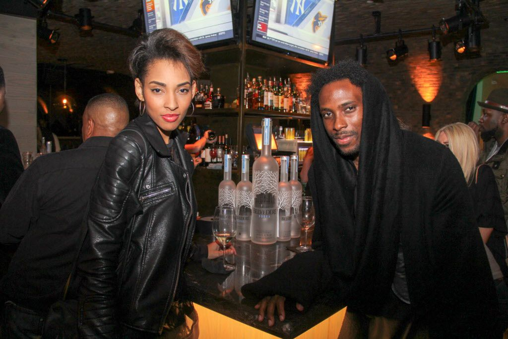 Erika Jones and Charles Smith II attended the Welcome To Dallas  party for new Mavericks addition Amar'e Stoudemire on March 10 at the Grotto Bar at Sfuzzi in Uptown.