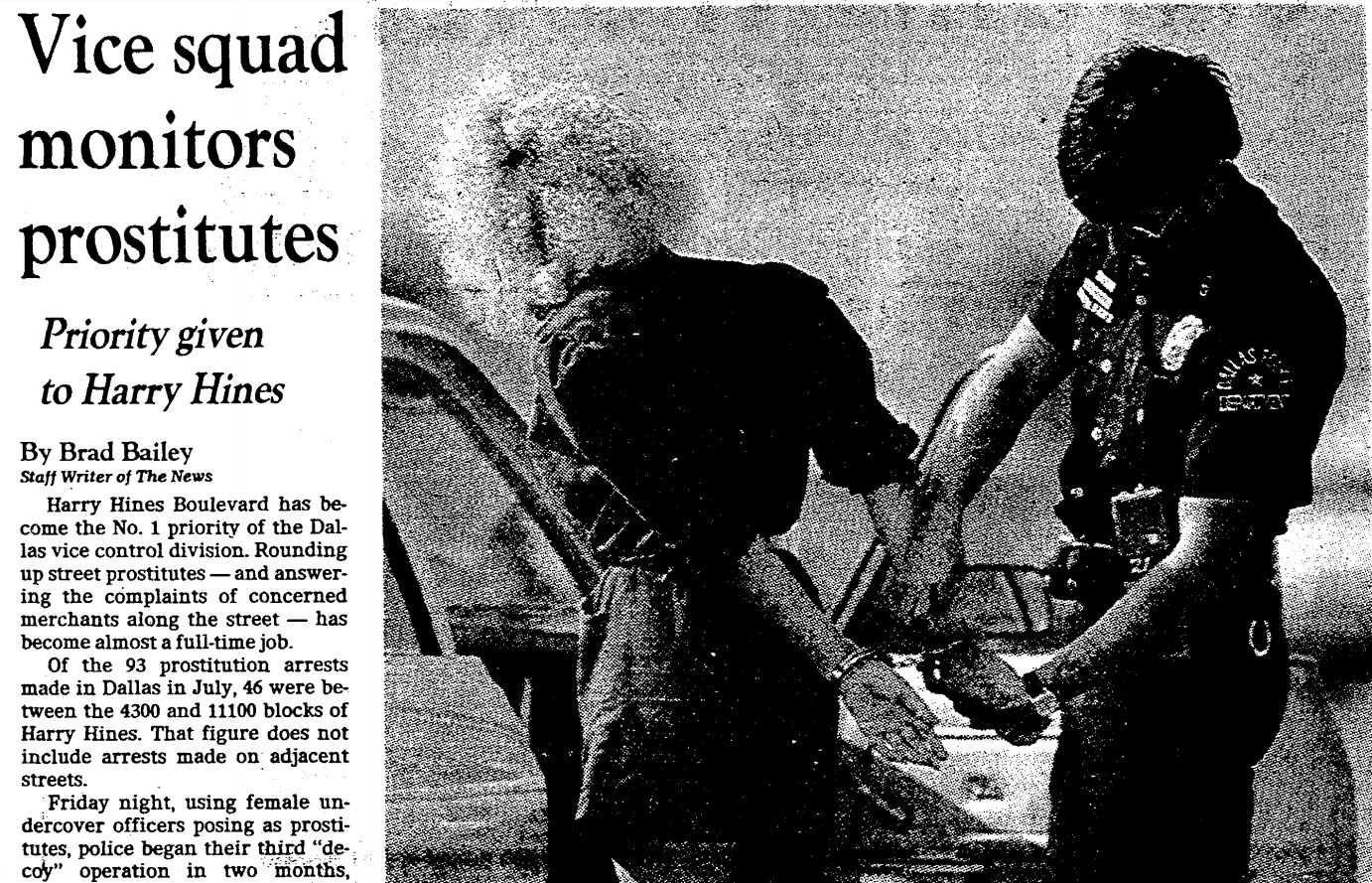 This story ran in The Dallas Morning News on Aug. 13, 1983. Twenty-five years later, there is no vice squad. At least, not right now.