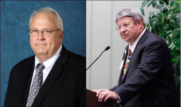 Lewisville Mayor Rudy Durham (left) and Denton ISD school board member Charles Stafford both also have top jobs in the Denton County appraisal district. Critics say this gives the appearance of a conflict of interest. It's legal, but some want to ban it.