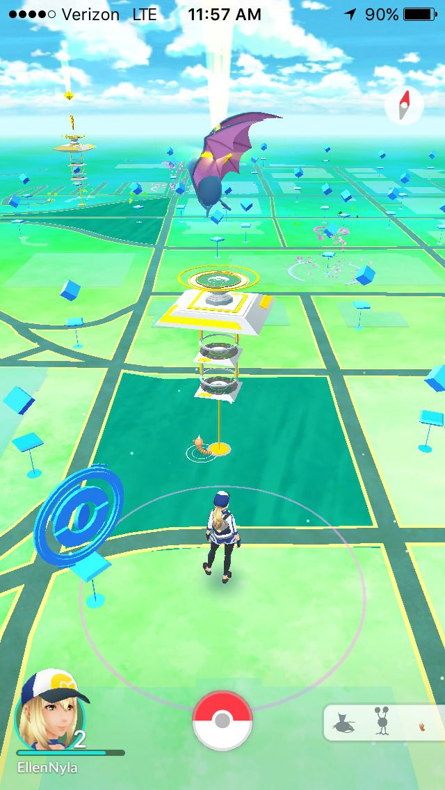 "A screenshot of a map showing downtown Dallas within the augmented-reality mobile game ""Pokemon Go"" on Wednesday, July 13, 2016."
