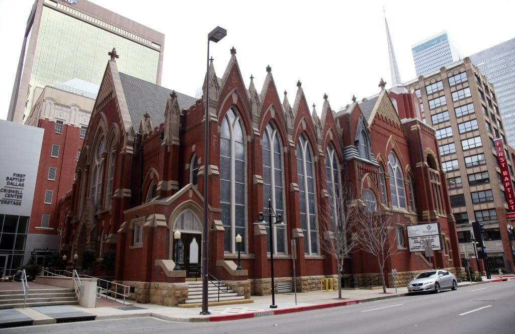 The First Baptist Church of Dallas in a 2010 photo.