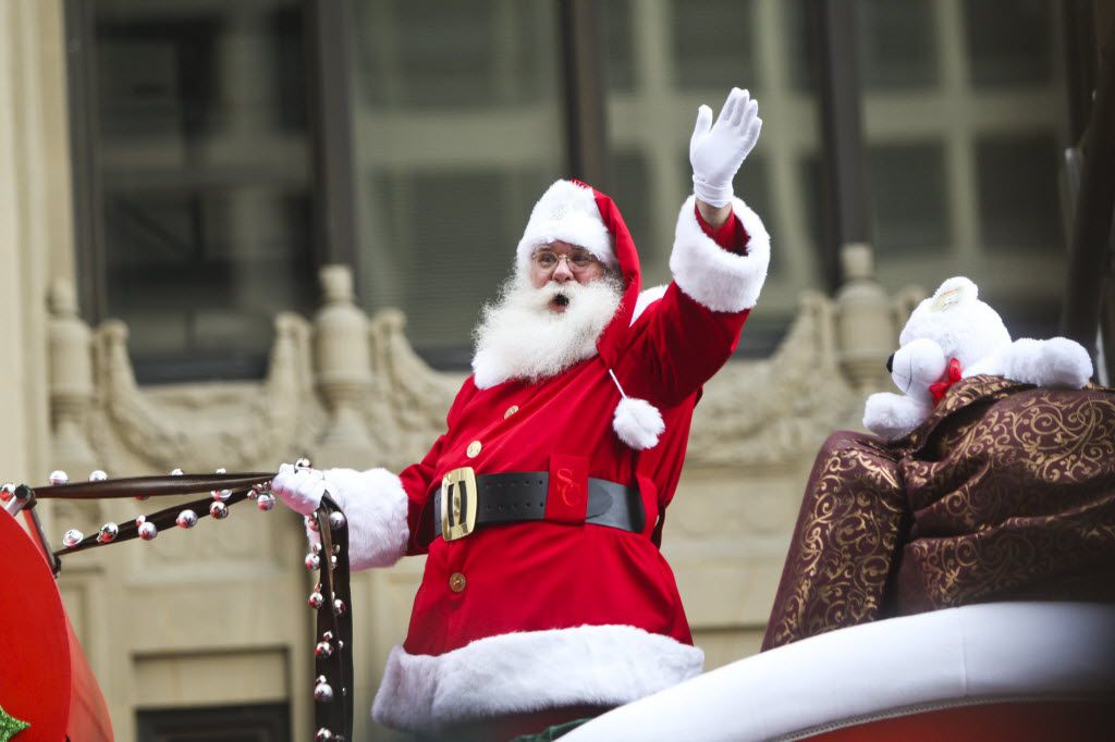Santa Claus greeted spectators during the 25th annual Children's Medical Center Holiday Parade in downtown Dallas on Dec. 1, 2012.
