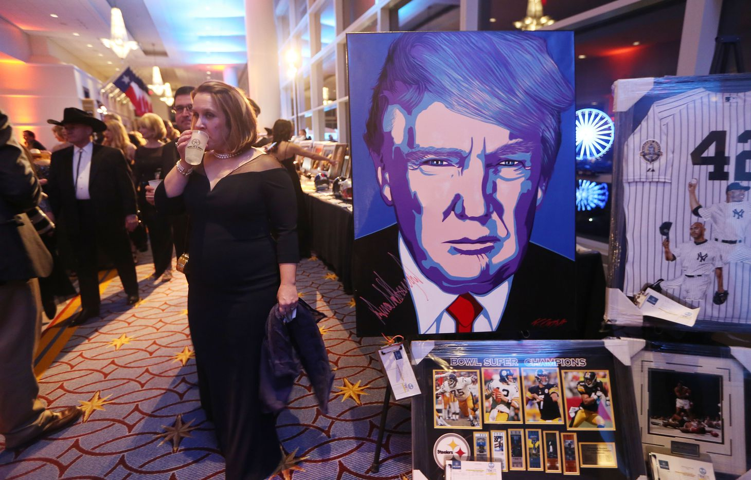 Revelers attend the Texas Black Tie and Boots inaugural ball on January 19, 2017 in National Harbor, Maryland. President-elect Donald Trump will be sworn in as the 45th president of the United States tomorrow.