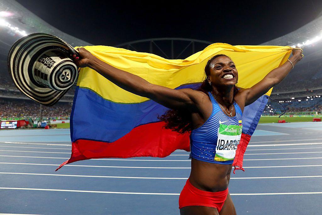 Caterine Ibargüen ganó oro para Colombia en triple salto. GETTY IMAGES