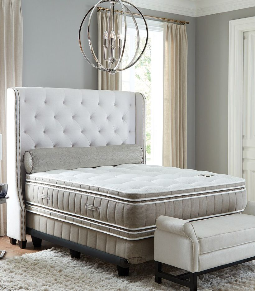 Shifman Mattress Co's Saint Michele Oxford collection king size mattress and box spring set costs $13,950 at Neiman Marcus. The ultra luxury top has multiple layers of cotton, Talalay processed latex foam rubber and cashmere fibers on both sides. Neiman Marcus started selling mattresses online only in September.
