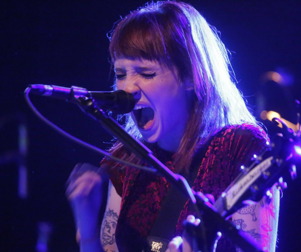 Original Eisley band member Sherri Dupree belts out a song while performing at Trees in Deep Ellum in Dallas Texas Tuesday December 1, 2015. (Ron Baselice/The Dallas Morning News)