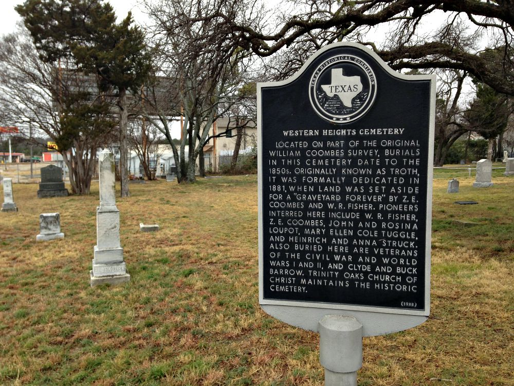 As though one needed proof of the Strucks' importance in West Dallas, it's there on the historical marker planted in front of the Western Heights Cemetery.