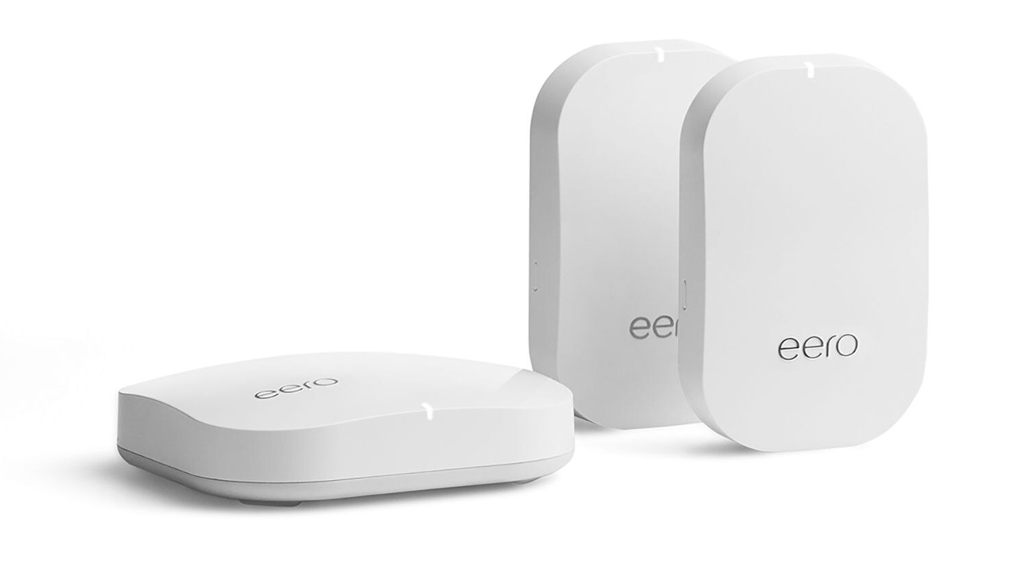 Eero base unit and two beacons can cover your whole house with Wi-Fi