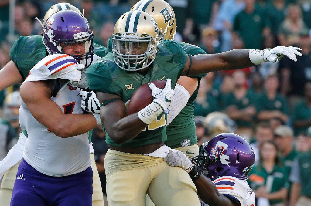 Baylor running back Terence Williams (22) is pictured during the Northwestern State University Demons vs. the Baylor University Bears NCAA football game at McLane Stadium in Waco, Texas on Friday, September 2, 2016. (Louis DeLuca/The Dallas Morning News)