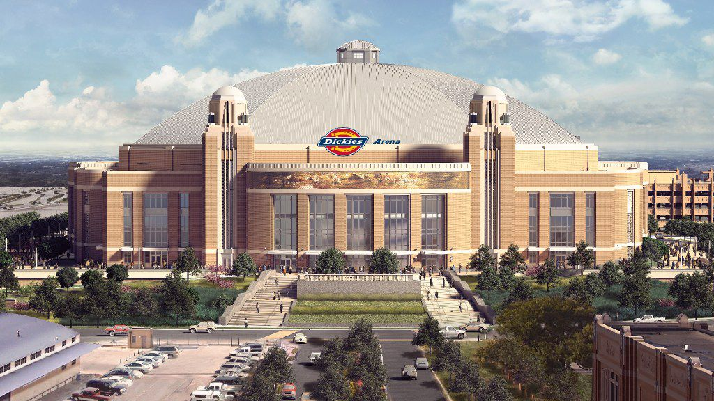 Rendering of the new Multipurpose Arena Fort Worth scheduled to open in 2019. This is how it will look from the north.