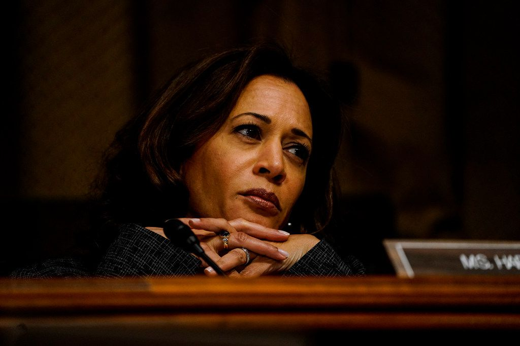 A case in California when Sen. Kamala Harris, pictured above during the confirmation hearings for Brett Kavanaugh, was the district attorney in San Francisco has taken on new relevance as she seeks the Demoratic nomination for the presidency.  (Washington Post photo by Melina Mara)
