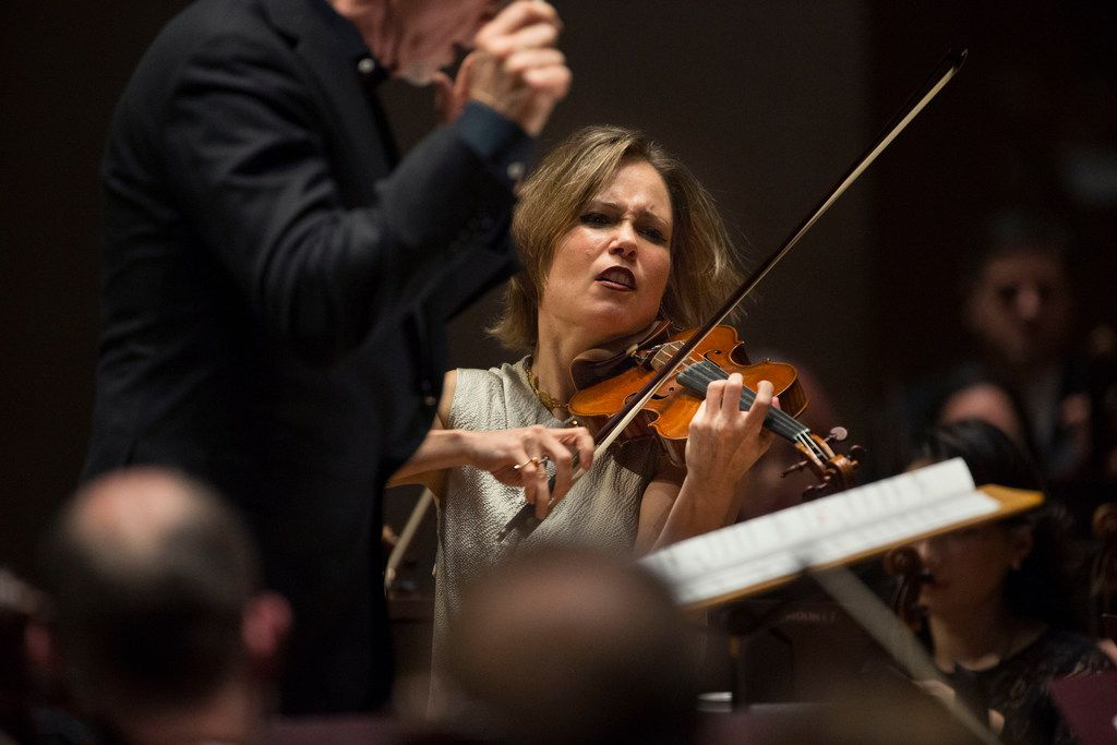 Violinist Leila Josefowicz plays with the Dallas Symphony Orchestra under guest conductor John Adams at the Meyerson Symphony Center in Dallas on Jan. 31, 2019. There will be repeats of this performance at 7:30 p.m. Friday and Saturday.