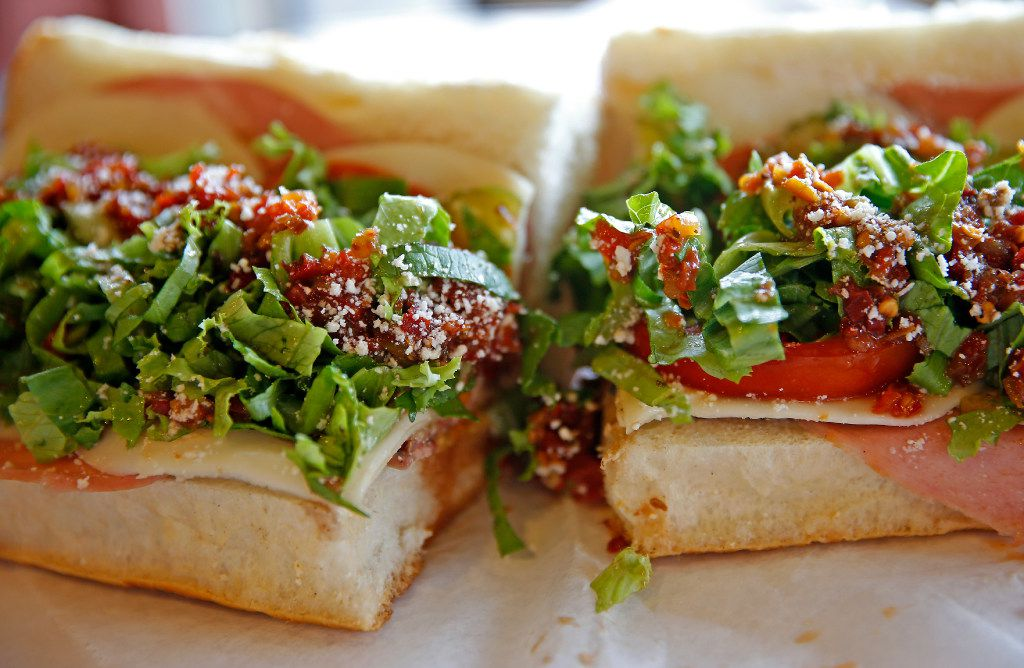 An Italian sub at the Jimmy's Food Store at 4901 Bryan Street in Dallas, Friday, July 28, 2017. (Jae S. Lee/The Dallas Morning News)