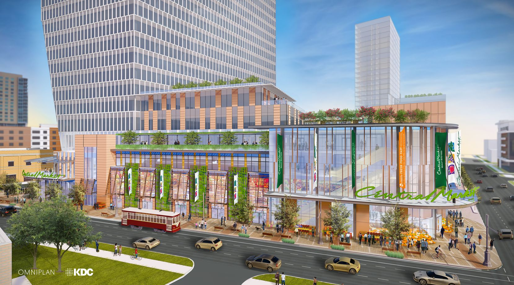 The Central Market grocery store will be on the ground floor of a high-rise office and retail complex on McKinney Avenue.