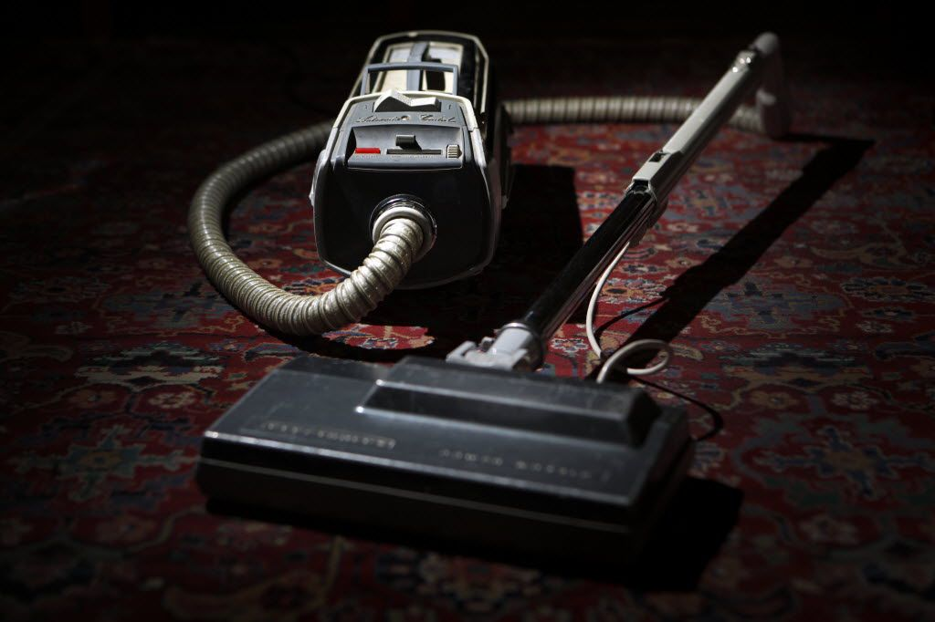 1950s-era Electrolux canister vacuum that Mitchell Kauffman has at his home in Dallas .