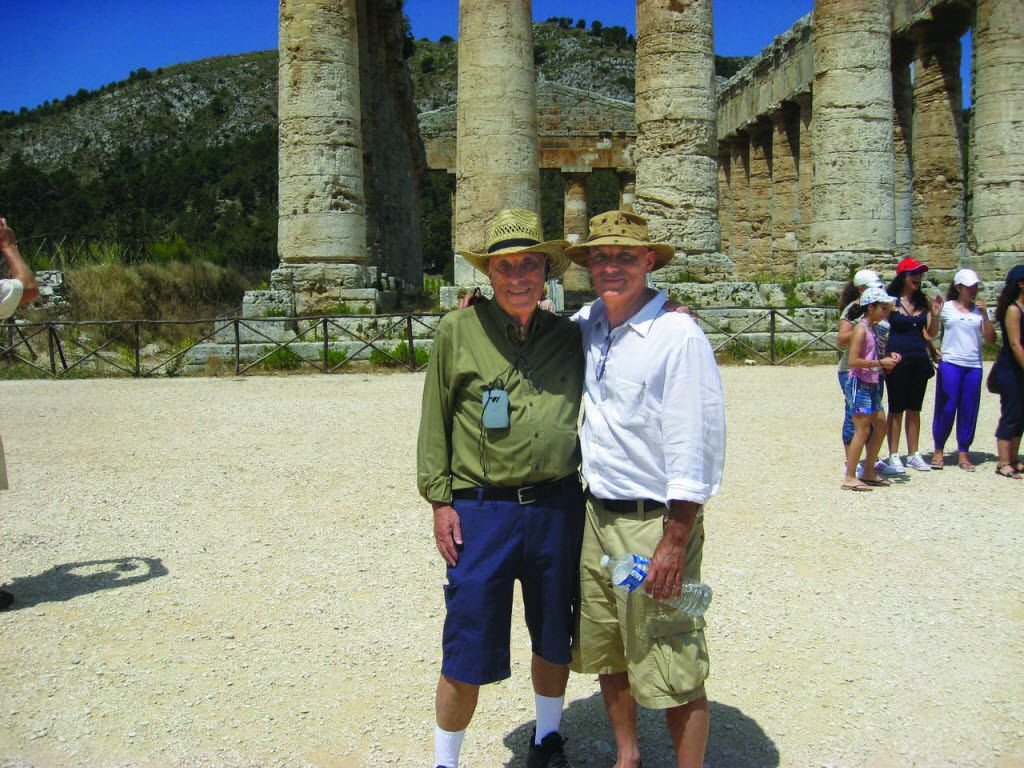 Daniel Mendelsohn and his father, Jay, in Sicily. (Knopf)
